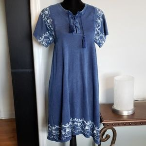 Loft Short sleeve Boho Dress